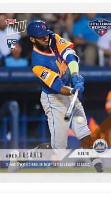 2018 Topps Now Rookie Card Little League Classic Mets Amed Rosairo #619 3For5