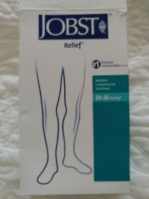JOBST 2 Pair Compression Thigh Stockings 20-30 mmHg Medium w/S Band-Open & Close