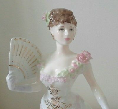 "BEAUTIFUL COALPORT FIGURINE 8 1/2"" EDWARD VII s LILLIE LANGTRY LIMITED EDITION"
