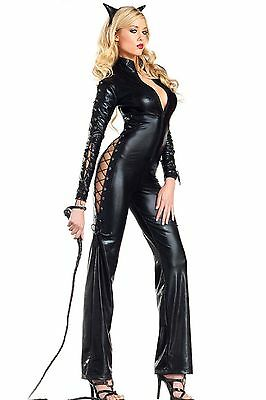 COSTUME CAT WOMANT MISTRESS VESTITO feticist SEX CATWOMAN donna GATTO