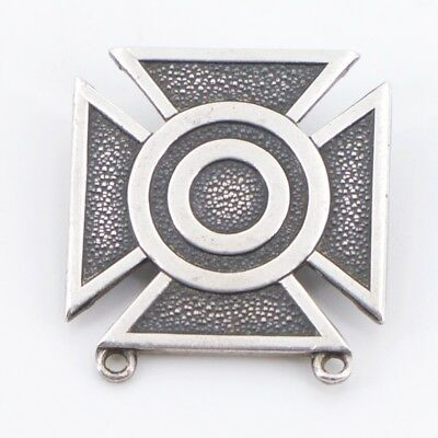 VTG Sterling Silver - Bell Trading Post US Military Iron Cross Brooch Pin - 9g