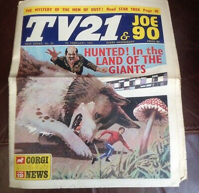 . TV 21 & Joe 90 Comic  New Series #20 , 7th Feb 1970