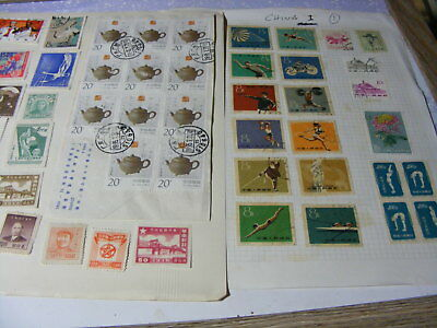 China range of mint & used from old collections Nr1
