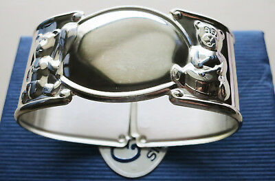 Christening Or Child's Gift - Sterling Silver Napkin Ring - Teddy Bears