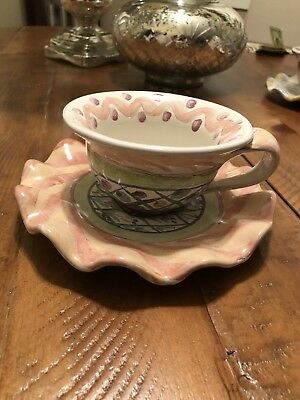 MacKenzie-Childs Cup and Matching Saucer