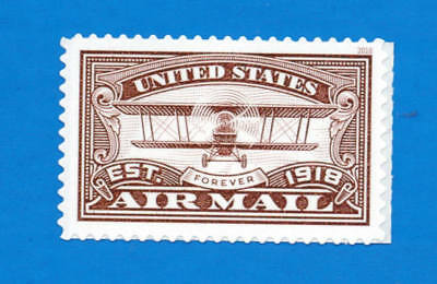 US United States Air Mail Stamp (red), a SINGLE forever stamp, MNH 2018