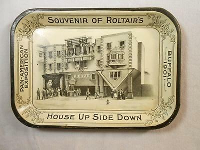 Early Tip Tray Pan-American Exposition Buffalo 1901 Roltairs House Up Side Down