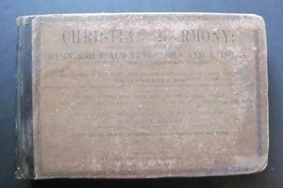 1873 CHRISTIAN HARMONY Hymn and Psalm Tunes Odes Anthems Antique Book
