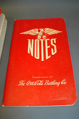 WWII 1945 compliments note pad calendar COCA COLA COKE SODA POP advertising sign