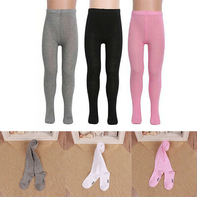 Girls Kids Cotton Hosiery Pantyhose Warm Knitted Pants Stocking Sock Tights