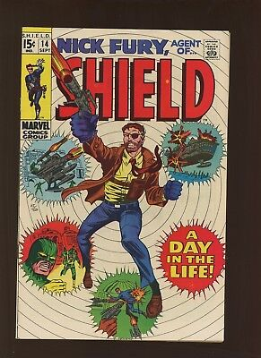 Nick Fury Agent of SHIELD 14 Qualified VF 8.5 * 1 Book Lot * Herb Trimpe!