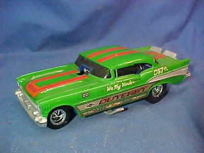 Orig 1973 MONOGRAM Plastic 1957 CHEVY FUNNY CAR-OUTCAST 1/24 Built Up MODEL Kit
