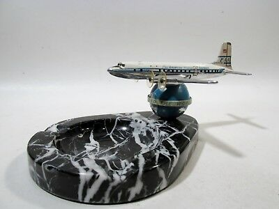 Midcentury PAN AM Airlines DC6 Airplane Desk Model Ashtray 1950s