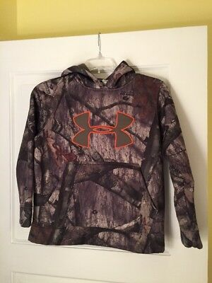 Under Armour Mossy Oak Treestand Youth Small Camo Hoodie In Multi-color
