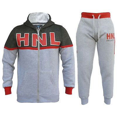 Boys/Girls Kids Tracksuit Full Zip Tops Bottoms Childrens Training Sport Suit
