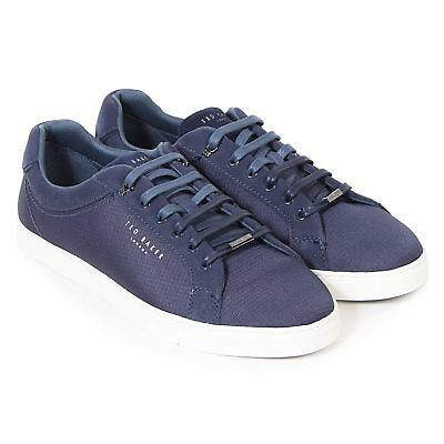 Ted Baker Men's Klemes Textile Lace Up Casual Trainer Dark Blue-Blue-9