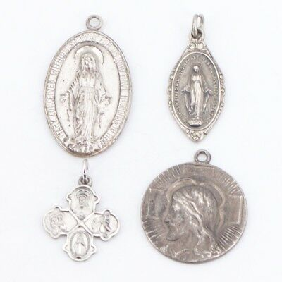 VTG Sterling Silver - Lot of 4 Assorted Religious Pendants NOT SCRAP - 19.5g