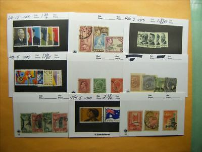 3511 Br. Commonwealth Lot of 9 Used Stamp Packs