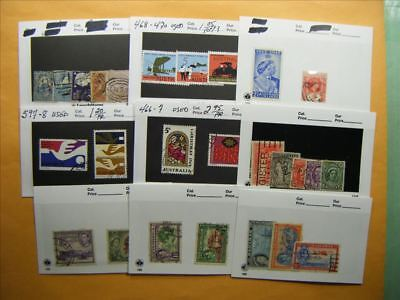 3512 Br. Commonwealth Lot of 9 Used Stamp Packs