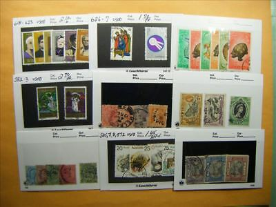 3516 Br. Commonwealth Lot of 9 Used Stamp Packs