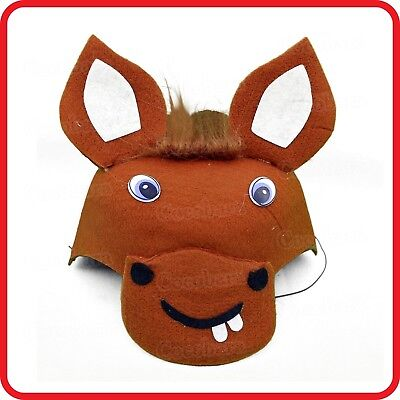 Cute Kids Childrens Donkey Mule Ass Horse Hat Cap-Dress Up-Costume-Party-Cosplay