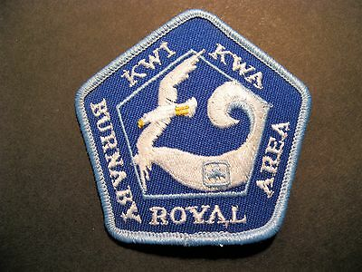 Girl Guides Canada Burnaby Royal Area Kwa Kwi Embroidered Patch Brownies Sparks