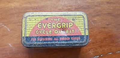 vintage bicycle repair tin evergrip