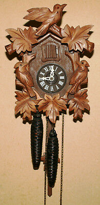 Vintage Wooden Complete Cuckoo Clock for Parts Repairs or Resoration