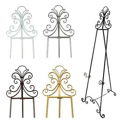 ORNATE METAL DISPLAY EASEL - 5 Colours Available | 155cm | Great For Weddings