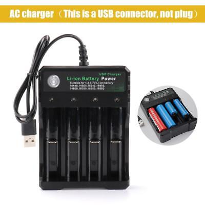 Battery Charger 4 Slot Universal Rechargeable 4.2V Li-ion For 18650 Batteries