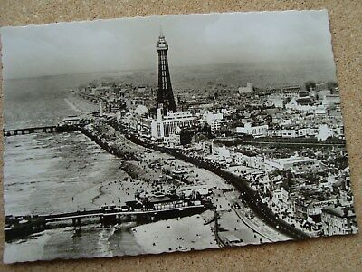 Aerial view of Blackpool looking north1950s Lancashire real photograph VALENTINE