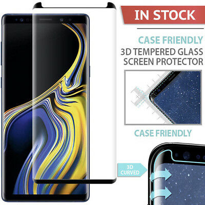 Case-Friendly tempered Glass Screen Protector F Samsung Galaxy Note 9 S8 S9 Plus