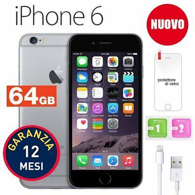 Nuovo Apple Iphone 6 64Gb Grigio Siderale Space Grey Con Accessori E Garanzia It