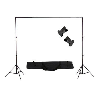 Photography Heavy Duty 2mx2m Photo Studio Backdrop Background Support Stand Kit