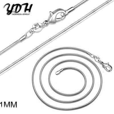 925 Sterling Silver 1MM Classic Snake Necklace Chain Wholesale Bulk Price