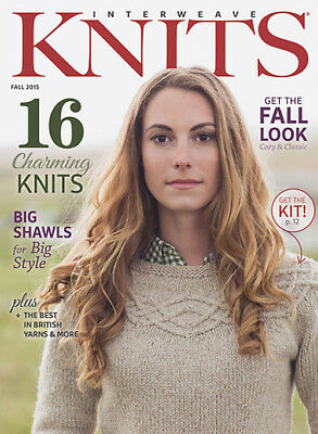 Interweave Knits magazine Fall 2015, 16 patterns, knits, shawls, jumper, hat