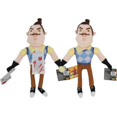 Hello Neighbor 10 inch Flashlight Butcher Neighbor Plush Figure Toy Stuffed Doll