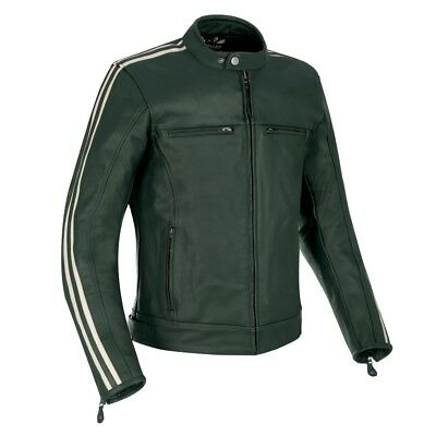 Oxford Bladon Leather Jacket Racing Green Mens Large