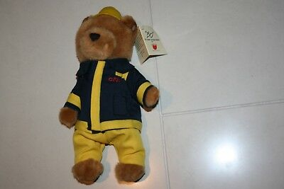 Cfa Country Fire Authority Mfb Teddy Bear Mascot Bnwt 27 Cm Melbourne Victoria M
