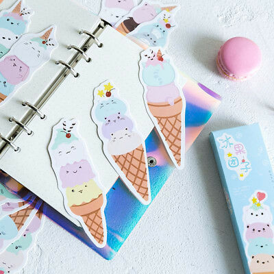 30pcs Cute Cartoon Fruit Ice-cream Paper Bookmark Kawaii School Stationery Gift