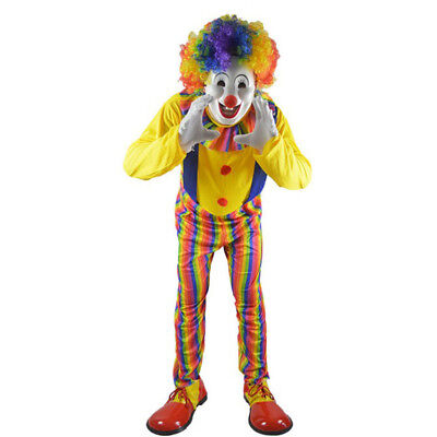 Funny Adult Men Halloween Costumes Circus Clown Costume Cosplay Suit