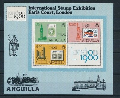 D216921 International Stamp Exhibition Stamps on Stamps S/S MNH Anguilla