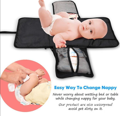 2018 Baby Portable Folding Diaper Travel Changing Pad Waterproof Mat Bag Storage