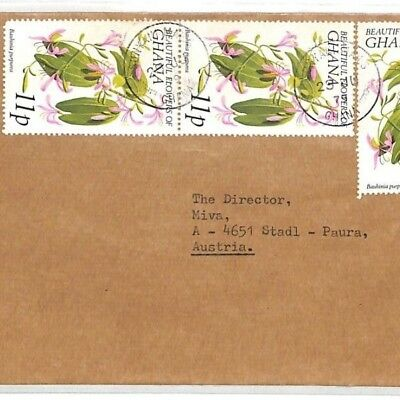 CF231 1979 Ghana *SUNYANI* MISSIONARY Air Cover MIVA Vehicles Austria FLOWERS