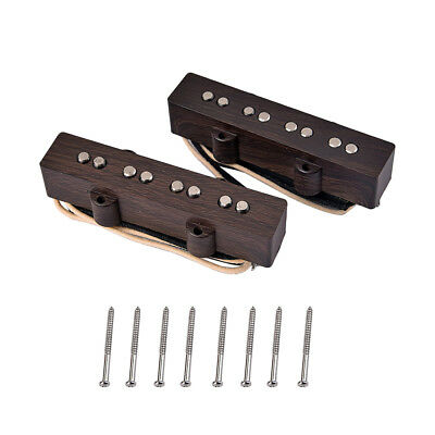 Jazz Bass 4 String Pickup w/ 8 Pcs Mounting Screws Set for Jazz Guitar