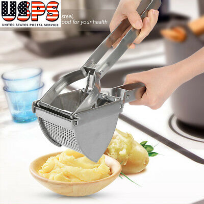 Kitchen Stainless Steel Vegetable Potato Masher Ricer Fruit Juicer Press Mincer
