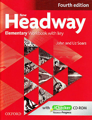 Oxford NEW HEADWAY Elementary FOURTH EDITION Workbook w Key& iChecker CD-ROM New
