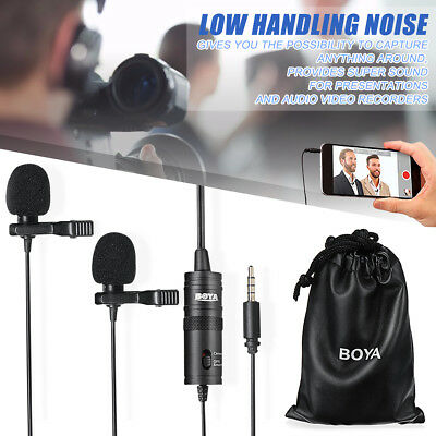 BOYA BY-M1DM Dual-Head Lavalier Revers Clip-on Microphone for PC DSLR Camera