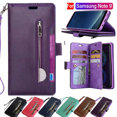 Shockproof Wallet Flip  Leather Phone Case Cover Bag For Samsung Galaxy Note9 S9