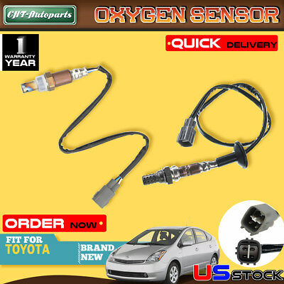 2x Upstream and Downstream O2 Oxygen Sensors for 04-09 Toyota Prius 1.5L 1NZFXE